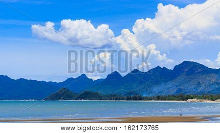 Sky and Sea Prachuap Khiri Khan Province of Thailand