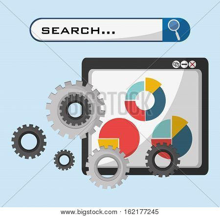 web page technolgy search gear graph economy vector illustration eps 10