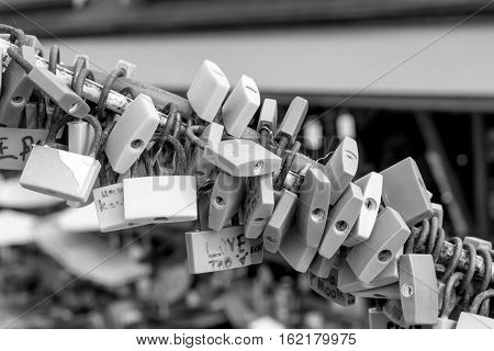 Black And White Of Lock.