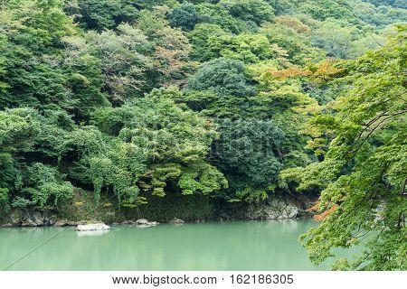 Lake in Arashiyama
