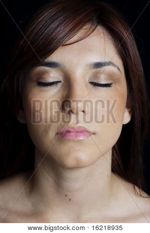 Young Woman in Calm Mediative State