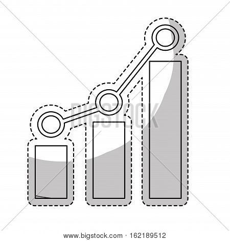 graphic chart icon over white background. vector illustration