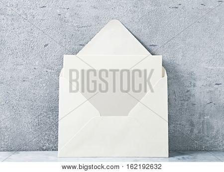 Blank card in an envelope
