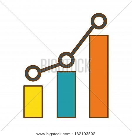 graphic chart icon over white background. colorful design. vector illustration