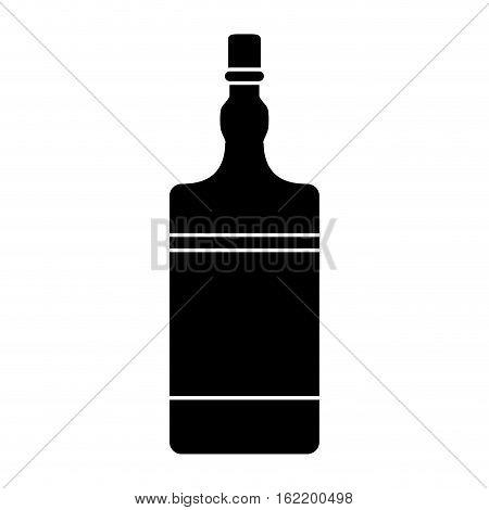 silhouette bottle whiskey expensive liquor vector illustration eps 10