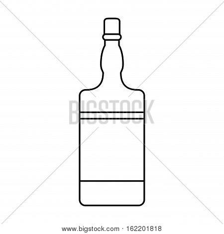 bottle whiskey expensive liquor outline vector illustration eps 10