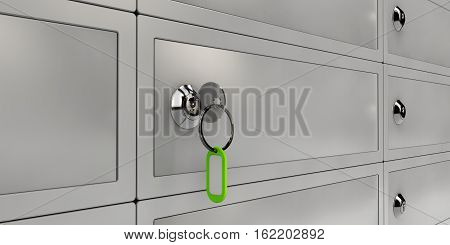 3D Illustration Of Safe Deposit Boxes, Realistic Object