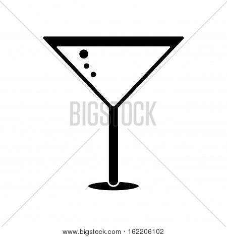 silhouette glass cocktail martini with olive vector illustration eps 10