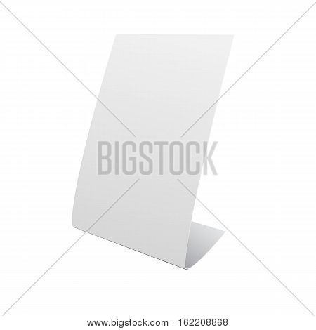 Nameplate Stand Banner On White Background Mock Up Template Ready For Your Design Illustration Eps 1