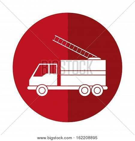 truck fire rescue urgency attention red circle vector illustration eps 10