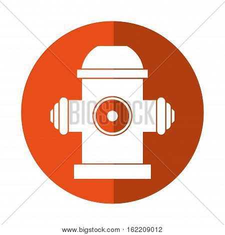 red fire hydrant fire fighting orange circle vector illustration eps 10