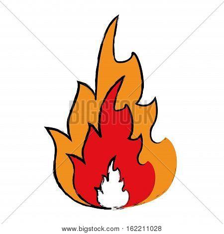 drawing hot flame spurts fire design vector illustration eps 10