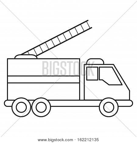 truck fire rescue urgency attention line vector illustration eps 10