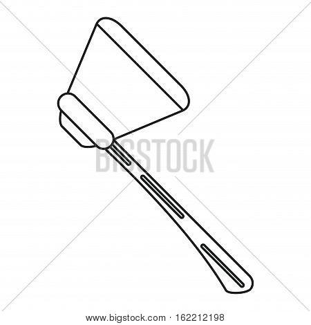 fire ax tool equipment wooden line vector illustration eps 10