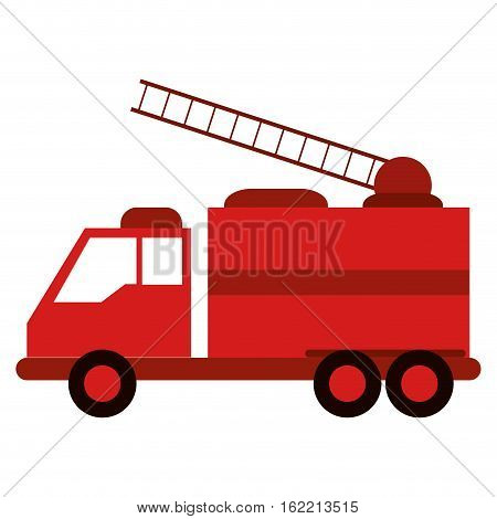 truck fire rescue urgency attention vector illustration eps 10