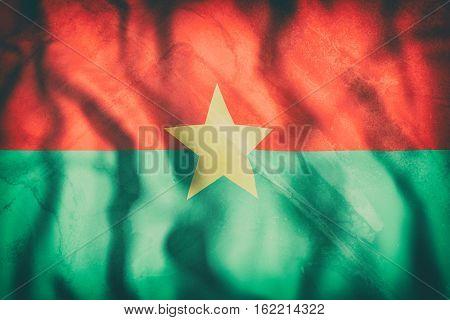 Burkina Faso Flag Waving