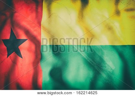 Republic Of Guinea-bissau Flag Waving