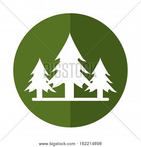 wildfire destroys pines smock shadow vector illustration eps 10