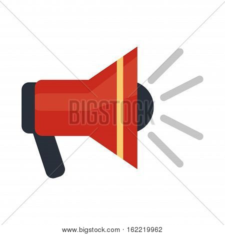 megaphone speaker alert urgency vector illustration eps 10