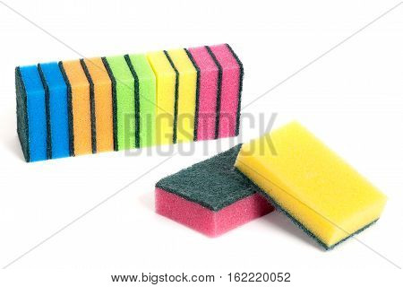 A Set Of Scouring Sponges