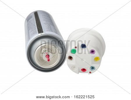 Balloon with nozzles for filling gas lighters