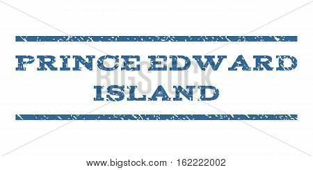 Prince Edward Island watermark stamp. Text tag between horizontal parallel lines with grunge design style. Rubber seal stamp with scratched texture.