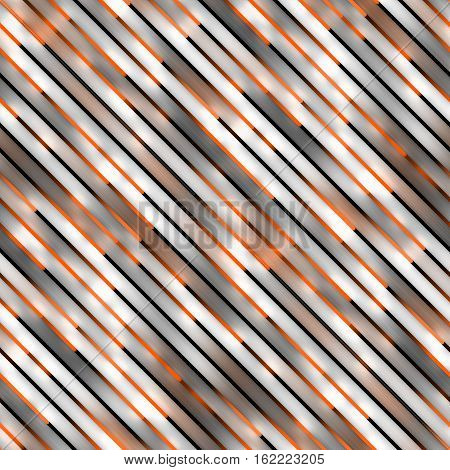 Gradient Neon orange Motion Lines. Abstract Geometric Background Design. Seamless Multicolor Pattern