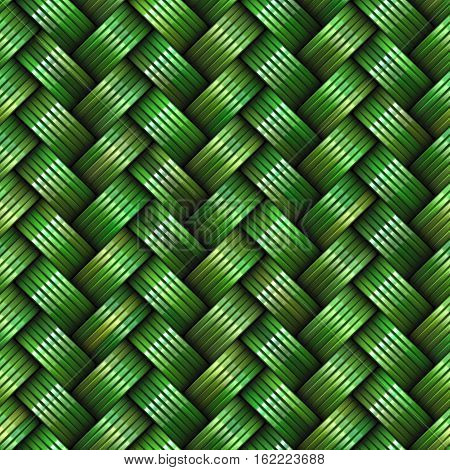 Twill Weave greenTexture. Abstract Geometric Background Design. Seamless Multicolor Pattern.