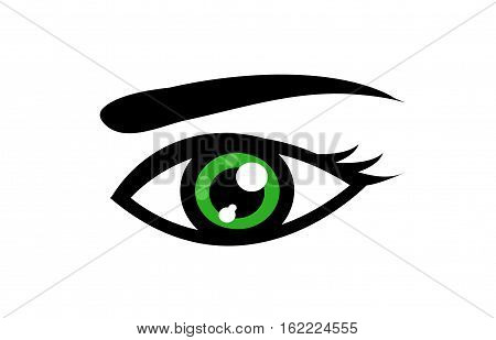 Abstract eye icon illustration art on white