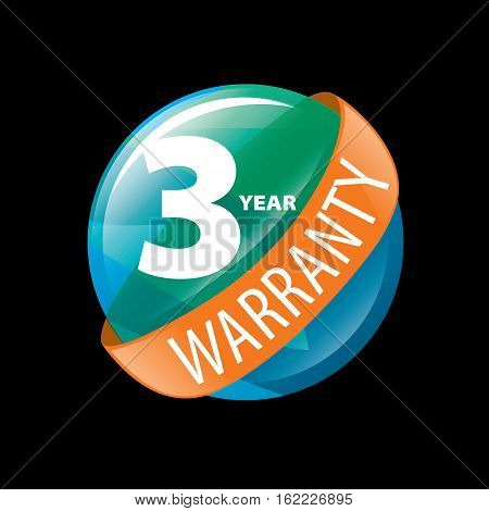 logo 3 years warranty. Vector illustration of icon