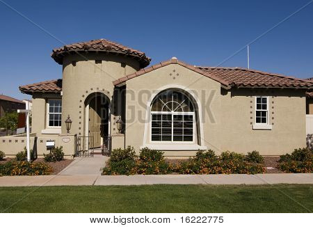Attractive new home exterior