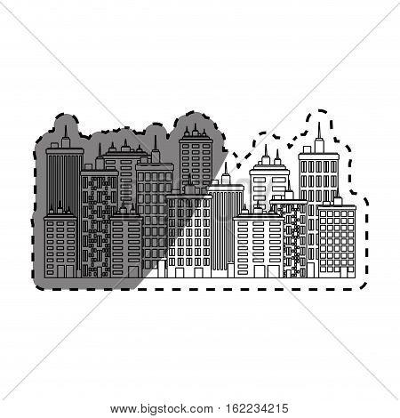 Urban city view icon vector illustration graphic design