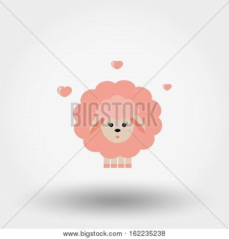 In Love Pink Girl Lamb.