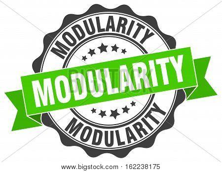 modularity. stamp. sign. seal. round. retro. ribbon