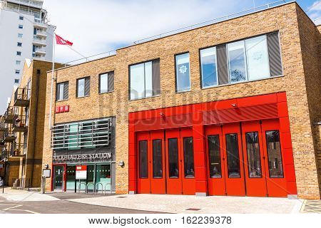 Gate Of A Fire Departement In Southwark, London