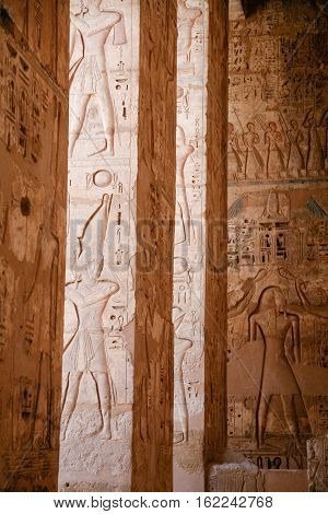 Egyptian Figures In Columns