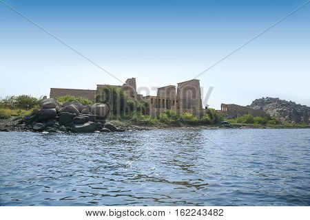 Nile River And Temple Philae