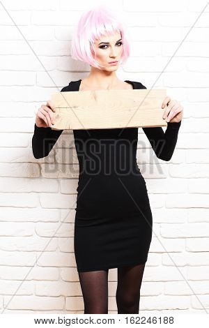 Sexy Satisfied Girl In Dress