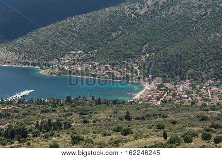 Panorama of Agia Effimia town, Kefalonia, Ionian islands, Greece