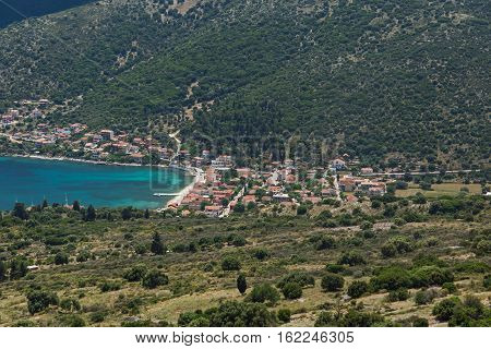Amazing Panorama of Agia Effimia town, Kefalonia, Ionian islands, Greece
