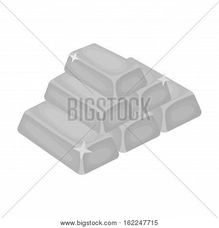 Golden bars icon in monochrome style isolated on white background. USA country symbol vector illustration.