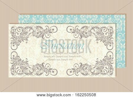 Invitation and save the date card. Also can be used as greeting card birthday card or party invitation
