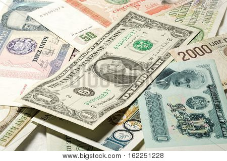Banknotes of different countries of the World