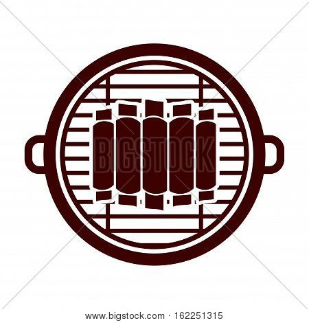 Grill and ribs icon. Bbq menu steak house food and meal theme. Isolated design. Vector illustration