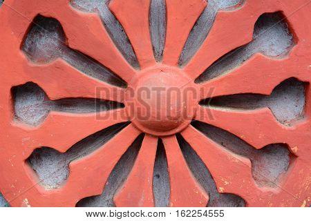 Dharma Wheel Buddhist Symbol