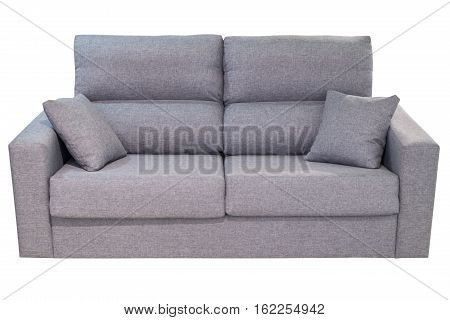 gray sofa isolated on a white background