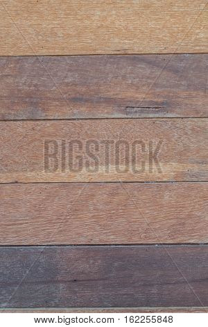Vertical Barn Wooden Wall Planking Texture. Reclaimed Old Wood Slats Rustic Horizontal Background. Home Interior Design Element In Modern Vintage Style. Hardwood Dark Brown Timbered Structure. Closeup