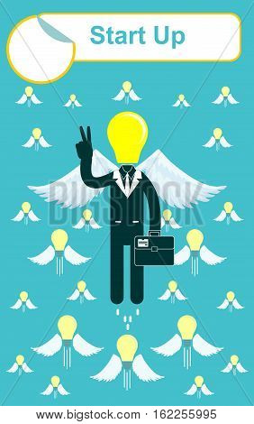 Start up business concept. Stock vector illustration