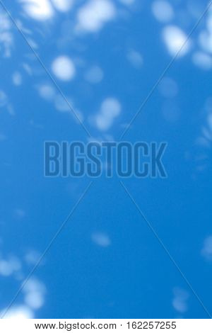 colorful blue twinkling lights bokeh light background