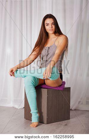 Woman In The Fitness Stuido